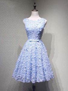 Elegant Lavender Sleeveless Tulle Lace Up Prom Evening Gown for Prom and Party and Sweet 16