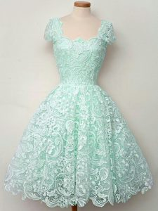 Graceful Cap Sleeves Lace Lace Up Quinceanera Court of Honor Dress