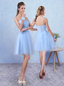 Tulle Sleeveless Knee Length Quinceanera Dama Dress and Ruching