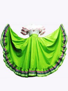 Ruffled Layers 15 Quinceanera Dress Lace Up Short Sleeves Floor Length