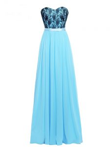 Vintage Sleeveless Lace and Appliques Zipper Evening Dress