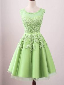 Dramatic Scoop Sleeveless Lace Up Court Dresses for Sweet 16 Tulle