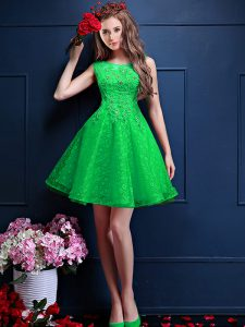 Bateau Sleeveless Tulle Court Dresses for Sweet 16 Beading and Lace Lace Up