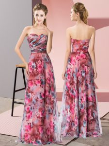 Sweet Chiffon Sleeveless Floor Length Evening Dress and Pattern