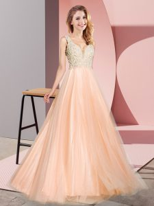 Sleeveless Lace Zipper Evening Dress