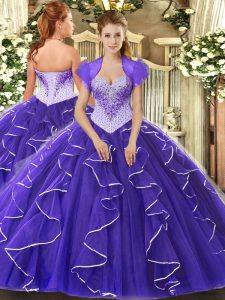 Cap Sleeves Lace Up Floor Length Beading Ball Gown Prom Dress