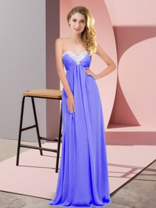 Elegant Floor Length Lavender Prom Evening Gown Sweetheart Sleeveless Lace Up