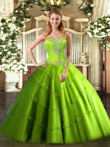 Floor Length Ball Gowns Sleeveless Quinceanera Dress Lace Up