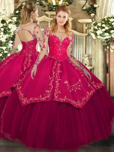 Colorful Floor Length Ball Gowns Long Sleeves Wine Red Sweet 16 Dresses Lace Up