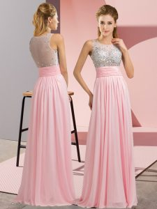 Delicate Sleeveless Beading Side Zipper Prom Evening Gown