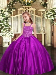 Beauteous Sleeveless Beading Lace Up Pageant Dress for Teens