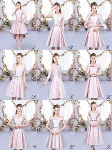 Great Baby Pink Sleeveless Ruching High Low Court Dresses for Sweet 16
