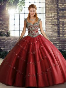 Beauteous Sleeveless Beading and Appliques Lace Up Quinceanera Dresses