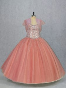 Sophisticated Sleeveless Beading Lace Up Quinceanera Dresses