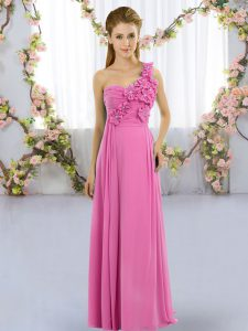 Hot Sale Sleeveless Hand Made Flower Lace Up Court Dresses for Sweet 16