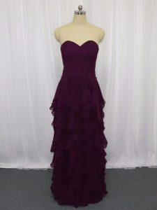 Artistic Sleeveless Ruffled Layers and Ruching Zipper Prom Party Dress