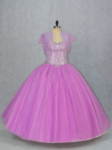 Glorious Sleeveless Beading Lace Up Quinceanera Dresses