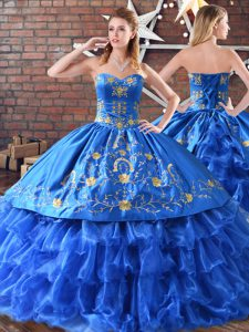 Sleeveless Embroidery Quinceanera Gowns
