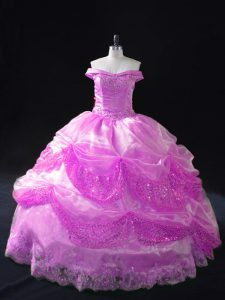 High Class Floor Length Ball Gowns Sleeveless Lilac Ball Gown Prom Dress Lace Up