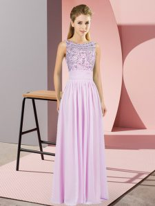 Chiffon Sleeveless Prom Evening Gown and Beading
