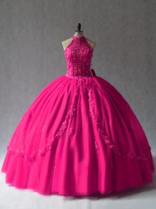 Sleeveless Appliques Lace Up Sweet 16 Dresses