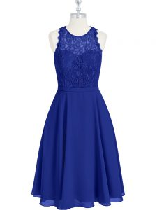 Sleeveless Lace Zipper Prom Evening Gown