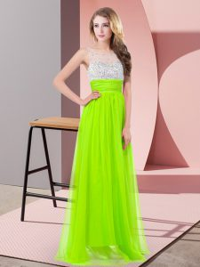 Lovely Prom Dresses Prom and Party and Military Ball with Sequins Scoop Sleeveless Side Zipper