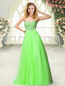 Floor Length Prom Gown Sweetheart Sleeveless Zipper