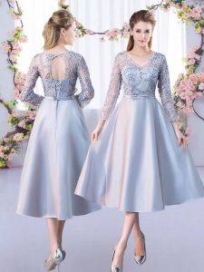 Fabulous 3 4 Length Sleeve Lace Lace Up Court Dresses for Sweet 16
