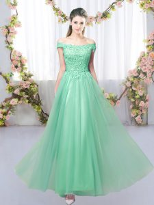 New Arrival Lace Court Dresses for Sweet 16 Apple Green Lace Up Sleeveless Floor Length