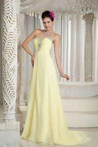 Yellow 2013 Empire Sweetheart Casual Holiday Dresses with Beading