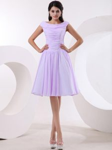 Brand New Bateau Neckline Lavender Cocktail Dresses with Ruched Bodice