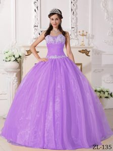 Classical Long and Dress for Quinceaneras with Appliques