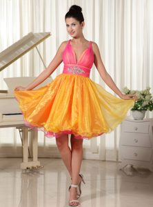 Sophisticated Colorful Princess Beading Prom Nightclub Dresses