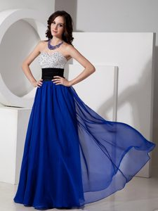 Pretty Royal Blue Sweetheart Dress for Prom Queen with Beading