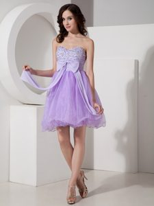 Beautiful Lilac A-line Sweetheart Prom Gown Dress Beaded On Sale