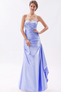 Newest Sweetheart Ruched Long senior Dresses for Prom in Lilac