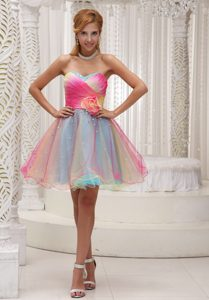 Lovely Ombre Color Prom Dresses for 2013 with Hand Made Flowers