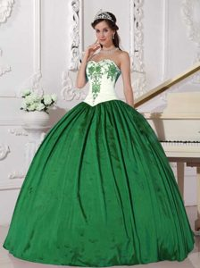 Sweetheart 2013 Fabulous Quinceanera Gowns in White and Green