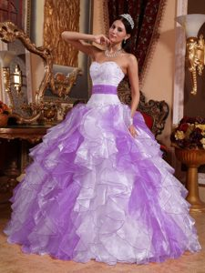 Multi-color Sweetheart Beaded Beautiful Sweet 16 Dress for Fall