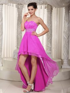 Empire Sweetheart High-low Lace Beaded Holiday Dress for Custom Made