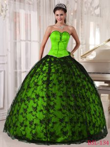 Perfect Spring Green Sweet Sixteen Quinceanera Dresses in