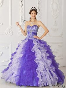 Multicolor Sweetheart Quinceanera Dress with Beading on Promotion