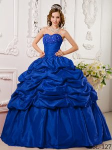 Brand New Blue Sweetheart Quinceanera Gown Dress with Appliques