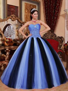 Newest Multi-colored Sweetheart Quinceanera Dress to Long in Tulle