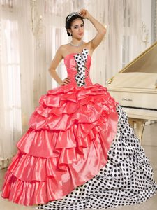 Popular Hot Pink Strapless 2013 Quinceanera Dress with Pick-ups on Sale