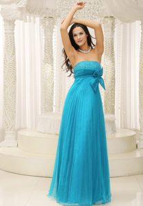 Elegant Teal Beaded Girl Pageant Dresses with Bowknot and Pleat