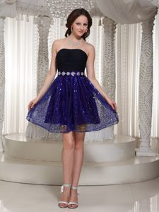 Wholesale Sequin Sexy A-line Strapless Party Dress for Juniors with Beading