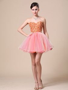 Discount Colorful Sweetheart Party Dresses with Beaded Bodice