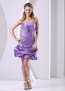 Ruched and Bowknot Decorated Knee-length Party Dress on Wholesale Price